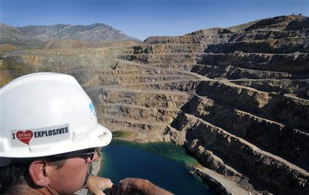 Rick Sixberry, operations general foreman at Molycorp Minerals Mountain Pass Mine in Mountain Pass, California, surveys the open pit August 19, 2009. REUTERS/David Becker