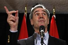 <p>Liberal leader Michael Ignatieff speaks during a news conference on the first day of the Liberal caucus summer retreat in Sudbury, Ontario, August 31, 2009. REUTERS/Chris Wattie</p>