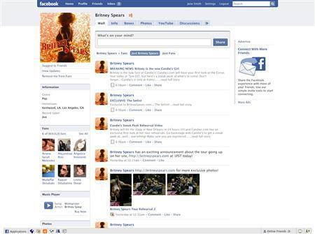 A sample Facebook page is seen in a handout photo. REUTERS/Facebook/Handout