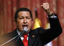 <p>Президент Венесуэлы Уго Чавес выступает с лекцией в Российском университете дружбы народов в Москве 9 сентября 2009 года. атиноамериканская республика Венесуэла, возглавляемая социалистом и давним критиком Запада Уго Чавесом, признала независимость отколовшихся от Грузии республик Южная Осетия и Абхазия. REUTERS/Denis Sinyakov</p>