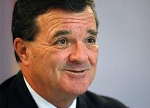 <p>Canada's Finance Minister Jim Flaherty speaks at a news conference at the G20 Finance Ministers summit in London September 5, 2009. REUTERS/Kevin Coombs</p>
