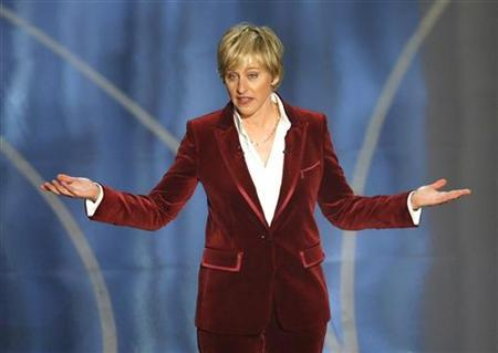 Host Ellen DeGeneres performs at the 79th Annual Academy Awards in Hollywood, California, February 25, 2007. REUTERS/Gary Hershorn