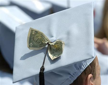 A Columbia University MBA graduate during commencement ceremonies in a file photo. REUTERS/Chip East