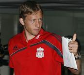 <p>O brasileiro Lucas não se vê como substituto de Xabi Alonso no Liverpool REUTERS/Kerek Wongsa</p>