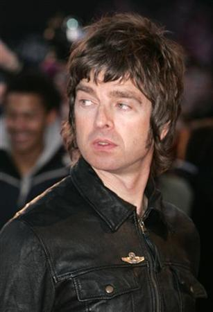 Noel Gallagher from Oasis arrives for the Brit Awards at the Earls Court Arena in London February 14, 2007. REUTERS/Luke MacGregor
