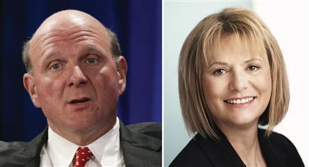 Microsoft CEO Steve Ballmer and Yahoo CEO Carol Bartz in a combination image. REUTERS/File