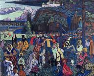 <p>Vasily Kandinsky's Colorful Life (Motley Life) (Das bunte Leben), 1907, is seen in this handout photo. REUTERS/Artist Rights Society/Courtesy Städtische Galerie im Lenbachhaus, Munich/Handout</p>