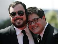 "<p>Gli attori Michael Gladis e Rich Sommer, della serie tv americana ""Mad Men"". REUTERS/Danny Moloshok (UNITED STATES ENTERTAINMENT)</p>"