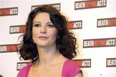 "<p>Actress Catherine Zeta-Jones attends a news conference for the launch of the movie ""Death Defying Acts"" in Sydney March 10, 2008. REUTERS/Patrick Riviere</p>"