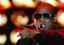 <p>American rapper Jay-Z performs during the Heineken Open'er Festival in Gdynia, northern Poland, July 5, 2008. Picture taken July 5, 2008. REUTERS/Kacper Pempel</p>