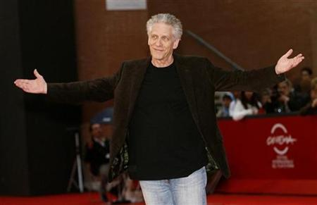 Movie director David Cronenberg poses on the red carpet as he arrives to a meeting at Rome's Film Festival October 23, 2008. REUTERS/Dario Pignatelli