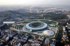 <p>Estádio do Maracanã em projeto para os jogos olímpicos de 2016. Ajuda da América do Sul à cidade é menor que muitos gostariam. REUTERS/Rio2016/Handout</p>