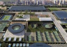 <p>Projeto para instalações esportivas para as olimpíadas de 2016. Entre as quatro concorrentes a sede, o Rio de Janeiro é a cidade com menor infraestrutura pronta. REUTERS/Rio2016/Handout</p>