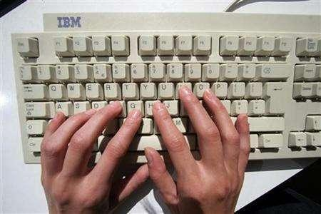 Undated file photo of computer keyboard.