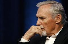 "<p>Actor Dennis Hopper attends a panel for the Starz drama series ""Crash"" at the Television Critics Association 2008 summer press tour in Beverly Hills, California July 11, 2008. REUTERS/Mario Anzuoni</p>"