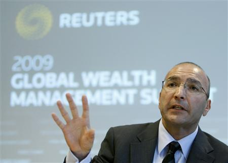 General Manager of Citi Private Bank (Switzerland) Samir Raslan gestures during the Reuters Global Wealth Management Summit in Geneva October 5, 2009. REUTERS/Denis Balibouse