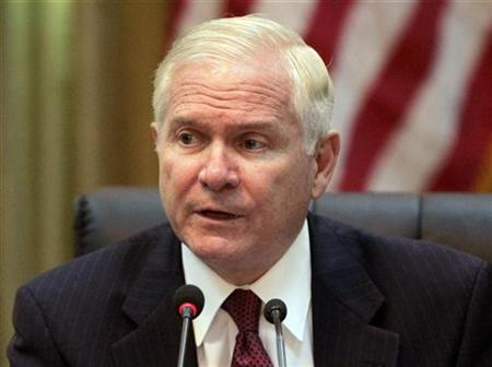 U.S. Secretary of Defense Robert Gates holds a news conference during his visit to Baghdad July 28, 2009. REUTERS/Saad Shalash