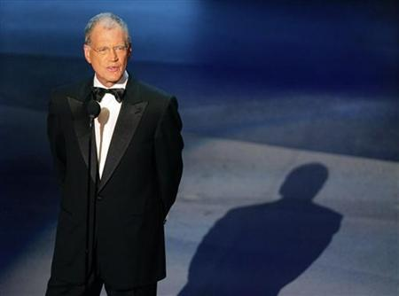 Talk show host David Letterman is shown at the 57th annual Primetime Emmy Awards at the Shrine Auditorium in Los Angeles in this September 18, 2005 file photo. REUTERS/Robert Galbraith