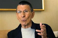 <p>Actor Leonard Nimoy gestures during an interview for the 40th anniversary of the science-fiction television series 'Star Trek' in Los Angeles August 9, 2006. REUTERS/Mario Anzuoni</p>