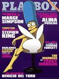 <p>Marge Simpson, la matriarca de pelo azul de la familia disfuncional más querida de Estados Unidos, protagonizará la portada del número de noviembre de la revista Playboy, anunció el viernes la publicación. Simpson, que aparece tapada elegantemente por una silla con el conejito de Playboy, es el primer personaje de animación que aparece en la portada de esta revista para adultos, sumándose a símbolos sexuales como Marilyn Monroe y Cindy Crawford. REUTERS/Playboy Magazine/Handout</p>