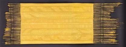 <p>Гобелен из паучьего шелка на выставке в Американском музее естественной истории в Нью-Йорке. Плетеный гобелен из шелка более миллиона пауков представлен на обозрение в Американском музее естественной истории в Нью-Йорке. REUTERS/Nicholas Godley and Simon Peers/Handout</p>