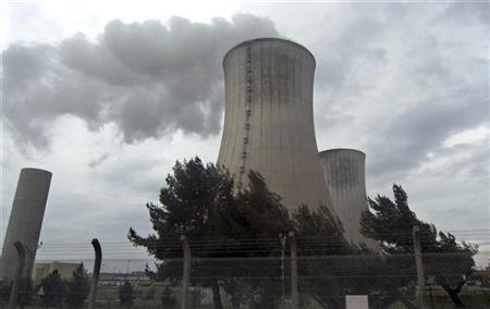 Cooling towers at the French nuclear Tricastin site in southeastern France in this March 6, 2009 file photo. REUTERS/Muriel Boselli/Files