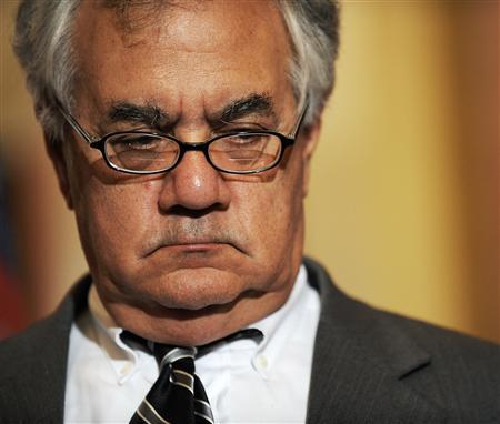 Rep. Barney Frank, Chairman of the House Financial Services Committee, on Capitol Hill, September 26, 2008. REUTERS/Jonathan Ernst