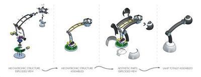 <p>Un disegno della lampada robot Helios. REUTERS/Ho</p>