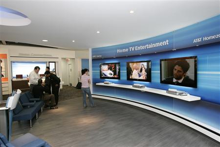 An AT&T Experience store is seen in this undated handout photo. REUTERS/AT&T/Handout