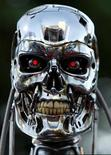 "<p>A robot from the movie is on display for the premier of the motion picture Terminator 3 ""Rise of the Machines"" June 30, 2003 in west Los Angeles. REUTERS/Mike Blake</p>"