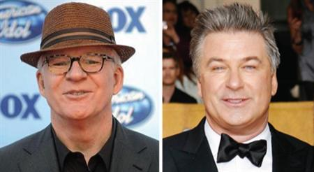 Steve Martin and Alec Baldwin in a combination image. Martin and Baldwin have been picked to co-host the upcoming 82nd Academy Awards, Oscar organizers said on Tuesday. REUTERS/Files