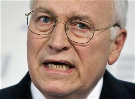 Vice President Dick Cheney speaks about national security at the American Enterprise Institute in Washington in this file image from May 21, 2009. REUTERS/Joshua Roberts/Files