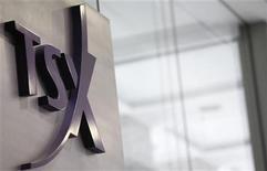 <p>A Toronto Stock Exchange (TSX) logo is seen in Toronto November 9, 2007. REUTERS/Mark Blinch</p>