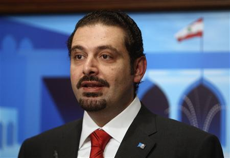 Lebanon's Prime Minister-designate Saad al-Hariri speaks after announcing the new cabinet at the presidential palace in Baabda, near Beirut, November 9, 2009. REUTERS/ Mohamed Azakir