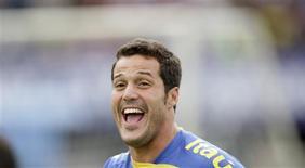 <p>Goleiro Julio César, em foto de arquivo, renovou contrato com Inter de Milão até 2014. REUTERS/Bruno Domingos</p>