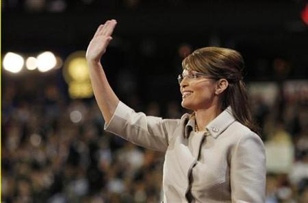Republican vice presidential candidate and Alaska Governor Sarah Palin arrives to speak to the 2008 Republican National Convention in St. Paul, Minnesota, September 3, 2008. REUTERS/Shannon Stapleton