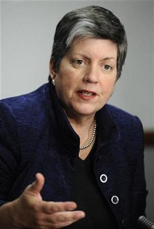 U.S. Homeland Security Secretary Janet Napolitano speaks during the 2009 Reuters Washington Summit in Washington October 19, 2009. REUTERS/Jonathan Ernst