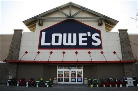 A sign is seen outside the Lowes store in Westminster, Colorado February 20, 2009. REUTERS/Rick Wilking