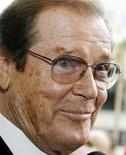 <p>British actor Roger Moore smiles after ceremonies unveiling his star on the Hollywood Walk of Fame in Hollywood, California in this October 11, 2007 file photo. REUTERS/Fred Prouser</p>