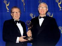 <p>Sir David Frost (a sinistra) in un'immagine di archivio. REUTERS PICTURE</p>