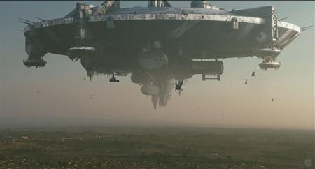 A scene from ''District 9''. In a year full of surprise hits without stars, ''District 9'' stands out as an even more unlikely box office champion than the crowd-pleasing comedy ''The Hangover'' or the supernatural thriller ''Paranormal Activity.'' REUTERS/TriStar/Handout