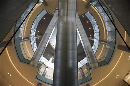 Escalators are seen in Dubai Mall, one of the world's largest shopping malls February 27, 2009. REUTERS/Steve Crisp