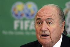 <p>Il presidente della Fifa, Sepp Blatter. REUTERS/Daniel Aguilar (MEXICO SPORT SOCCER)</p>