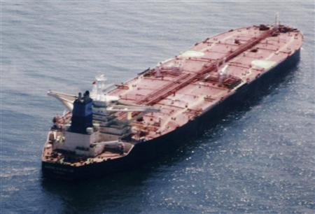 Greek-flagged Maran Centaurus oil tanker is pictured in this undated handout photo. Somali pirates have seized the Maran Centaurus near the Seychelles, more than 700 miles off the coast of Somalia, Greece's coastguard said on November 30, 2009. REUTERS/Maran Tankers Management/Handout
