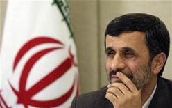 <p>Iran's President Mahmoud Ahmadinejad attends a news conference in Brasilia in this November 23, 2009 file photo. REUTERS/Ricardo Moraes</p>