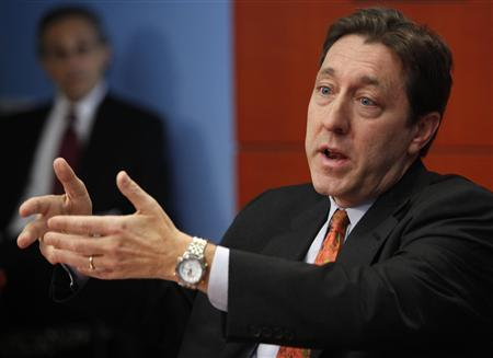 ESPN and ABC Sports President George Bodenheimer speaks at the Reuters Global Media Summit in New York, December 1, 2009. REUTERS/Brendan McDermid