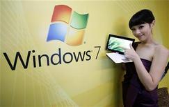 <p>Il nuovo sistema operativo di Microsoft Windows 7 installato su un netbook. REUTERS/Nicky Loh</p>
