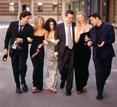 <p>This undated publicity picture shows (L-R) David Schwimmer, Jennifer Aniston, Courteney Cox, Matthew Perry, Lisa Kudrow and Matt LeBlanc. REUTERS/STR New</p>