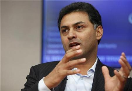 Nikesh Arora, President, Global Sales Operations and Business Development for Google, speaks at the Reuters Global Media Summit in New York, December 3, 2009. REUTERS/Brendan McDermid