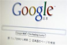 <p>Foto de archivo de la pantalla principal del buscador por internet Google en su versión japonesa, Tokio, ago 19 2009. Google Inc renovó su motor de búsqueda para permitir que los resultados se renueven con actualizaciones de la creciente variedad de productos en tiempo real que pueblan internet. REUTERS/Stringer</p>